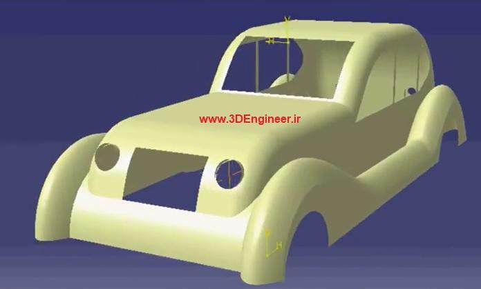 طراحی بدنه خودروی کلاسیک
