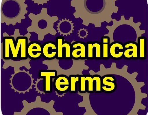 Mechanical Terms apps