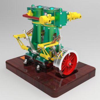 Vertical Twin Steam Engine