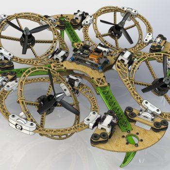 dual axis tilting quadrotor design